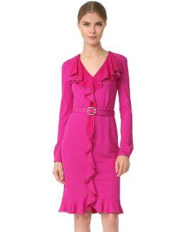 Long Sleeve Ruffle Dress