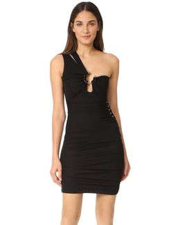 One Shoulder Cutout Dress