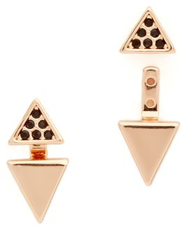 Double Triangle Front To Back Earrings
