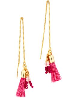 Threader Earrings With Tassels