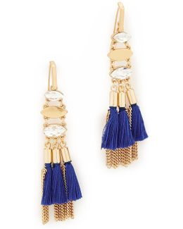 Tassel And Fringe Chandelier Earrings