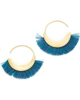 Thread Fringe Small Hoop Earrings