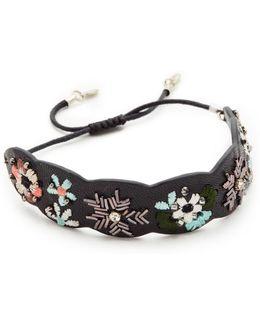 Floral Embroidery Guitar Strap Bracelet