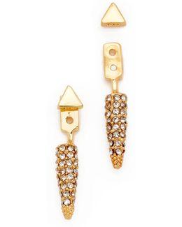 Pave Spike Earrings