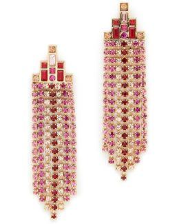 Baguette Stone Fringe Earrings