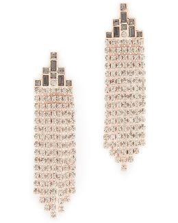 Baguette Stone Fringe Earrings