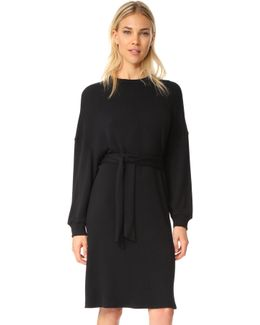 Pique Slouchy Belted Dress