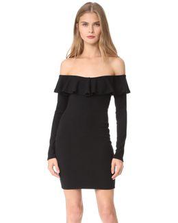 Luxe Rib Ruffle Dress