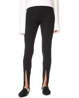 Luxe Rib Front Slit Pants