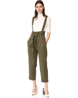 High Waisted Trousers With Waist Flap
