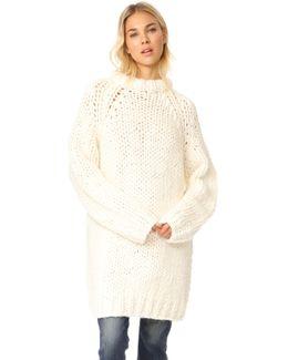 Oversized Chunky Fisherman Sweater