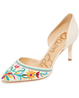 Telsa Ii Embroidered Pumps