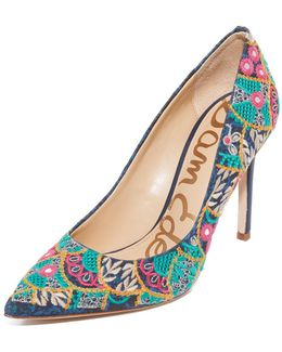 Hazel Embroidered Pumps