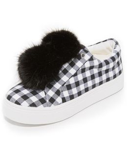 Leya Gingham Sneakers