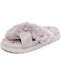 Bianca Faux Fur Sandals