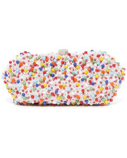 Multi Bead Embroidered Clutch