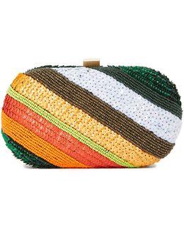 Rainbow Stripe Clutch