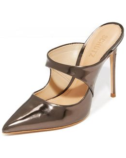 Nicolly Pointed Toe Heeled Mules