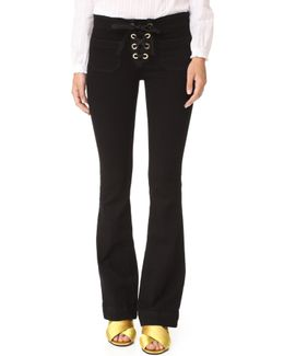 New Penelope Laceup Flare Jeans