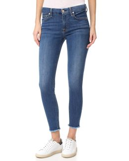 B(air) Ankle Skinny Jeans With Raw Hem