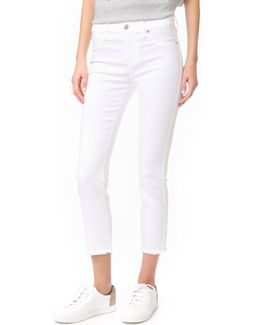 Roxanne Ankle Jeans With Raw Hem