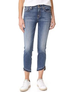 Roxanne Ankle Jeans With Released Hem
