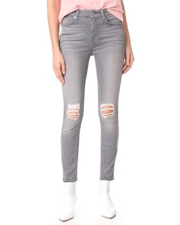B(air) Skinny Jeans With Knee Holes