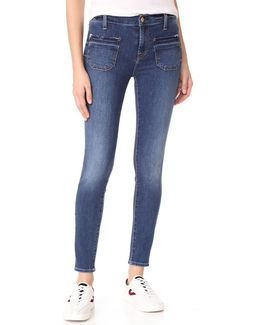 The Ankle Skinny Jeans With Released Pockets