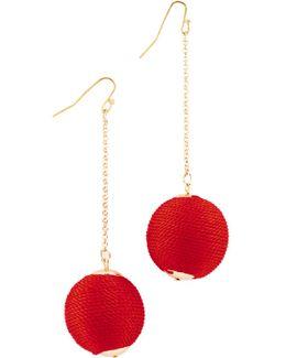 Silk Matilda Chain Drop Earrings