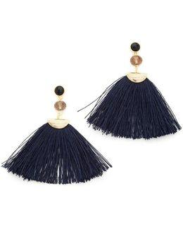 Mia Fan Tassel Earrings