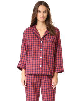 Washed Plaid Marina Pajama Shirt