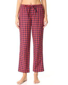 Washed Plaid Marina Pajama Pants