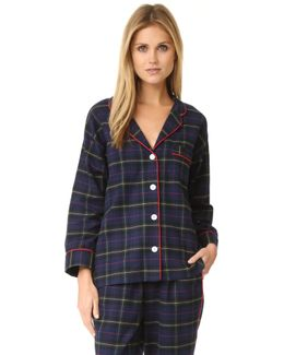 Flannel Plaid Marina Pajama Shirt