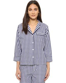 Gingham Marina Pajama Shirt