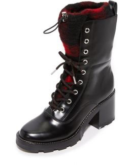 Gladys Lace Up Booties