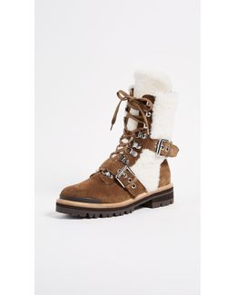 Iris Shearling Buckle Boots
