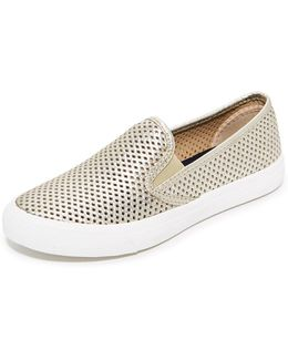 Seaside Perforated Slip On Sneakers