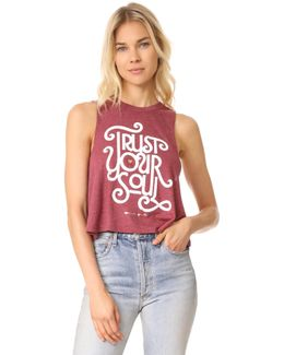 Trust Your Soul Cropped Tank