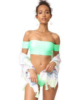 Sunsational Off Shoulder Bikini Top