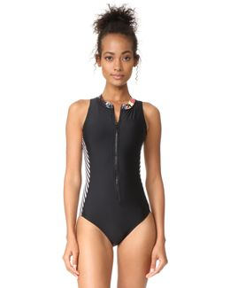 Electric Bloom Swimsuit