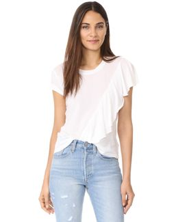 Vintage Whisper Ruffle Front Tee
