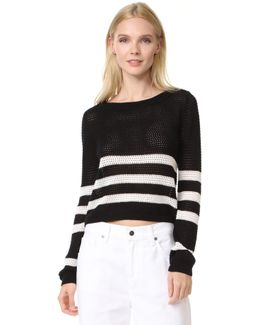 Halloway Striped Mesh Sweater