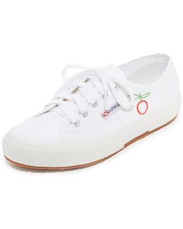 Sweet As Cherries Embroidered Classic Sneakers
