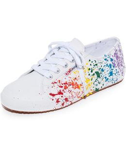 2750 Leather Splatter Paint Sneakers