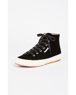 2795 Velvet High Top Sneakers