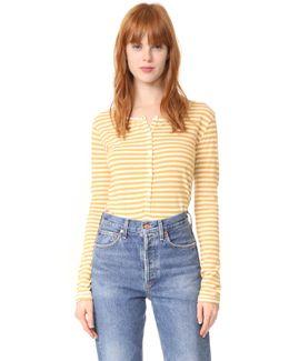 Mustard Stripe Henley