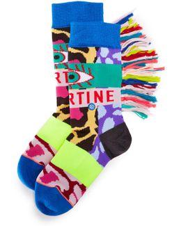 X Libertine Magic Eye Socks