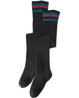 Dark Matter Over The Knee Socks