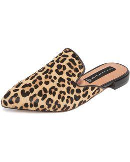 Valente Leopard Mules