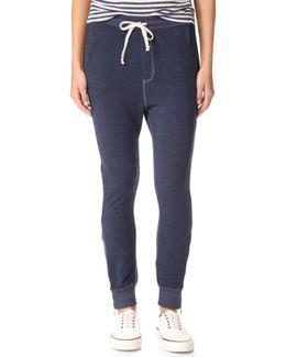 Slash Pocket Zipper Sweatpants